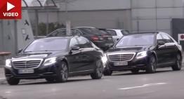 Mercedes S-Class facelift 2017, filmat când iese la joacă