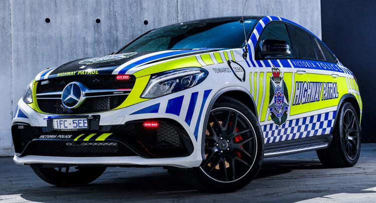 Mercedes-AMG masina de poliție