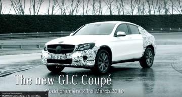 Noul Mercedes-Benz GLC Coupé este gata să debuteze la New York