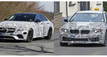 SPY GAMES: Noul BMW M5 versus Mercedes-AMG E 63