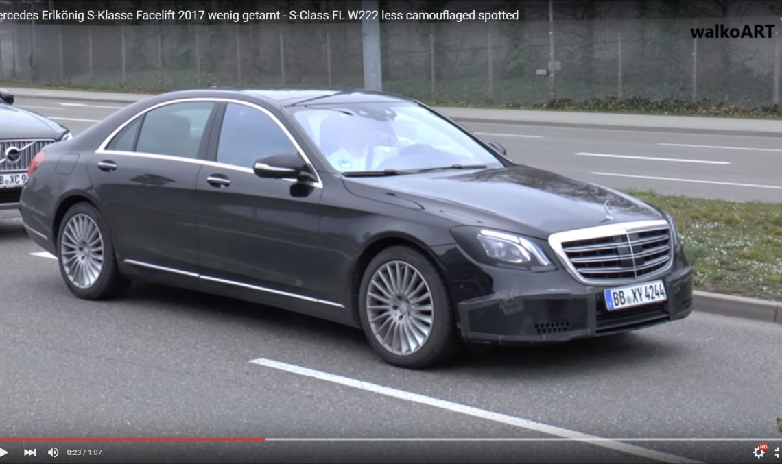 Limuzina de top transformată! Mercedes S-Class facelift 2017 într-o filmare spion