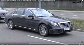 Limuzina de top transformată! Mercedes S-Class facelift 2017 într-o filmare spion
