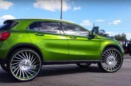 Mercedes-Benz GLA primește jante Forgiato de 26 de inchi ca să joace în clipuri hip-hop