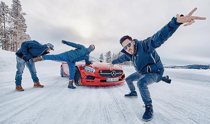 Linkin Park încinge gheața la AMG Driving Academy