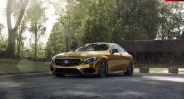 Mercedes-ul de aur – Un Mercedes-Benz S500 Coupe îmbrăcat în folie aurie