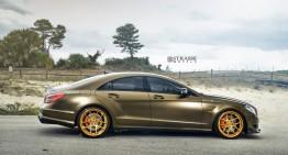 Capodopera de bronz – Mercedes CLS 63 AMG cu jante Strasse