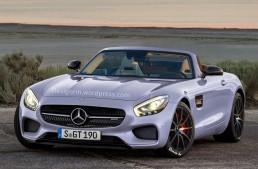 Un Mercedes-AMG GT Roadster e pe drum!