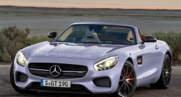 Un Mercedes-AMG GT Roadster e pe drum!