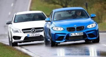 Test Mercedes CLA 45 AMG vs BMW M2 realizat de Sport Auto