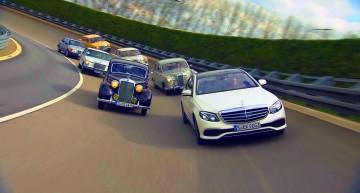 Mașina timpului! Mercedes-Benz E-Class 2017 își întâlnește predecesorii