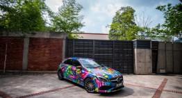 """""""A"""" vine de la """"artă"""" – Graffiti pe Mercedes-Benz A-Class"""