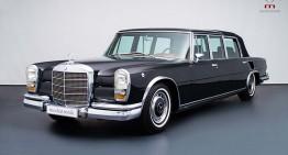 Mercedes-ul regal – Mercedes-Benz 600 Pullman Landaulet folosit de regina Marii Britanii este de vânzare