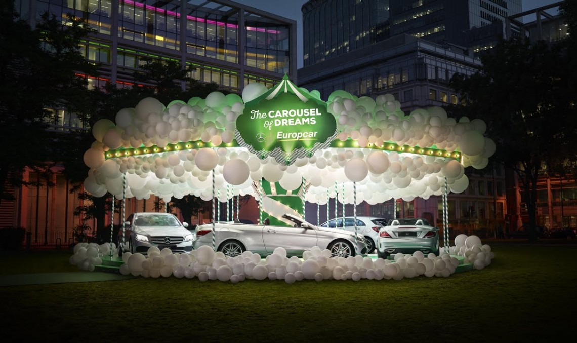 Mercedes-Benz și Europcar au construit Caruselul Visurilor în Londra