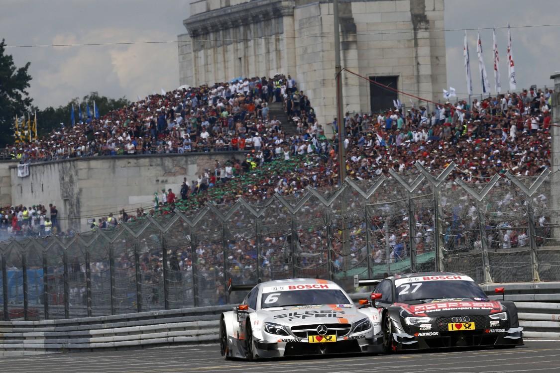 #6 Robert Wickens, Mercedes-AMG C 63 DTM, #27 Adrien Tambay, Audi RS5 DTM