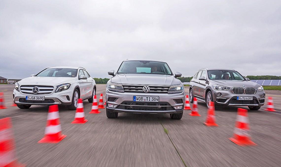 Războiul SUV-urilor compacte: Mercedes GLA versus VW Tiguan, BMW X1