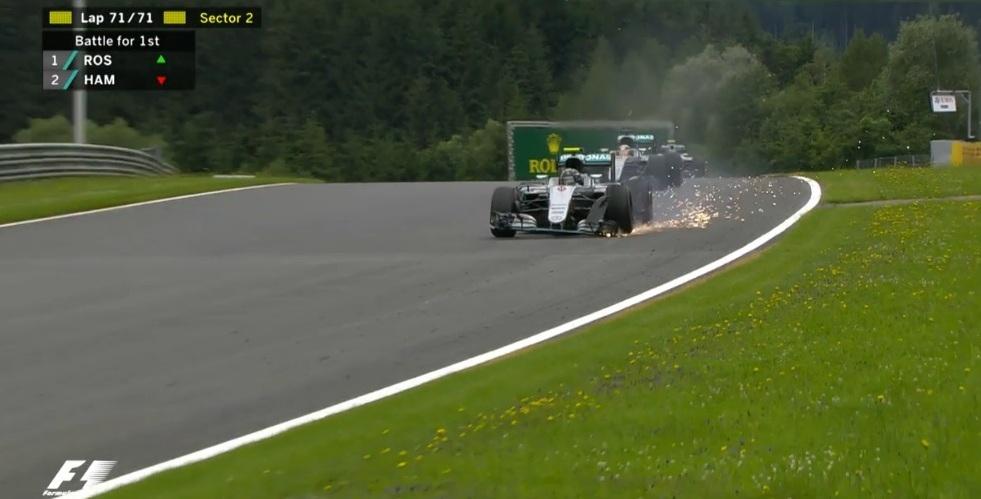 Au ieșit scântei la Marele Premiu al Austriei! Lewis Hamilton a câștigat!
