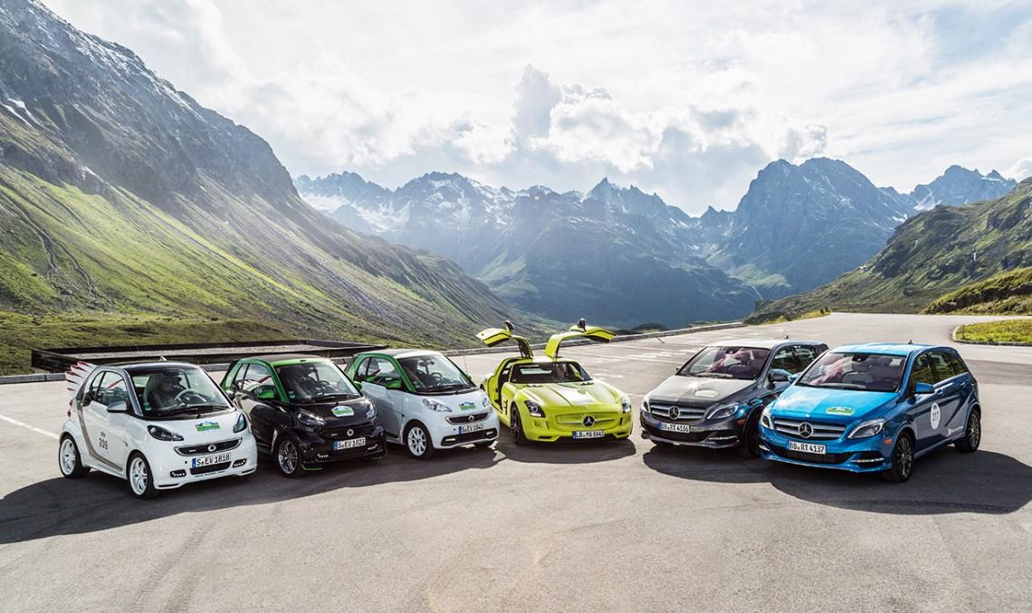 """Nouă modele """"eco"""" de la Mercedes-Benz vor concura în Raliul Silvretta"""