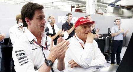 Toto Wolff und Niki Lauda Silverstone