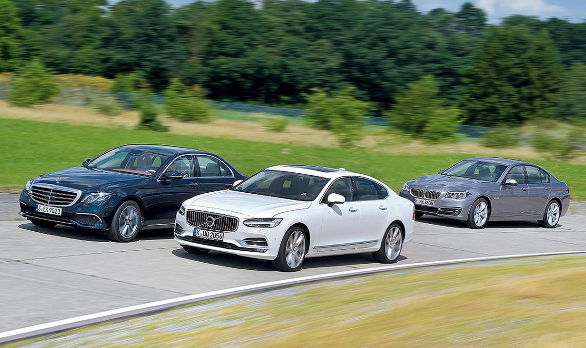 Mercedes E-Class 2017 câștigă duelul cu Volvo S90 și BMW Seria
