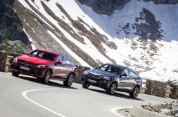 PRIMUL TEST COMPARATIV. Mercedes GLC Coupe 2017 versus BMW X4