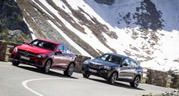 PRIMUL TEST COMPARATIV. Mercedes GLC Coupe 2017 versus BMW X4