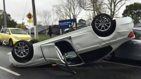 BMW Mercedes accident (1)