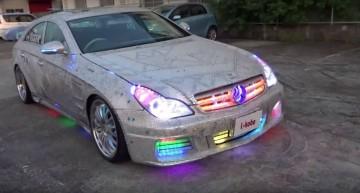 Discobolul – Un Mercedes CLS arată acum ca un club de noapte