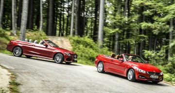 Test comparativ Mercedes C 250 Cabrio vs BMW 420i Cabrio