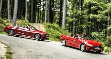 Test comparativMercedes C 250 Cabrio vs BMW 420i Cabrio