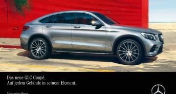 Mercedes-Benz GLC Coupe se simte ca acasă pe orice suprafață