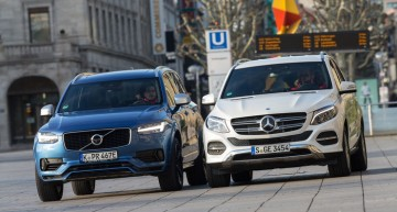 Test comparativ Mercedes GLE 500 e vs Volvo XC90 T8 AWD