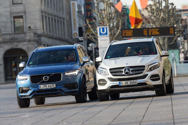 Test comparativ Mercedes GLE 500 e vs Volvo XC90 T8 AWD