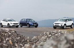 Cel mai bun SUV compact? Mercedes GLA versus Range Rover Evoque, BMW X1