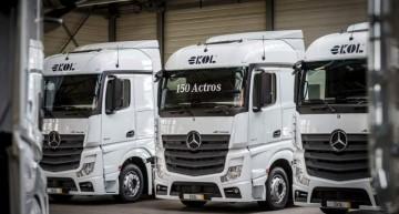 Transportatorul Ekol cumpără 150 de camioane Mercedes-Benz Actros