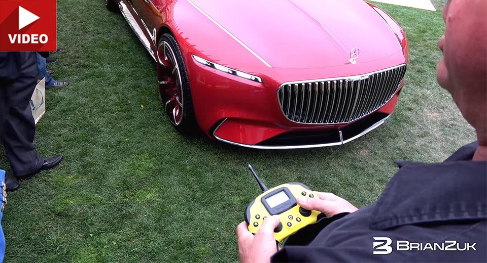 Cea mai tare mașină cu telecomandă: Vision Mercedes-Maybach 6