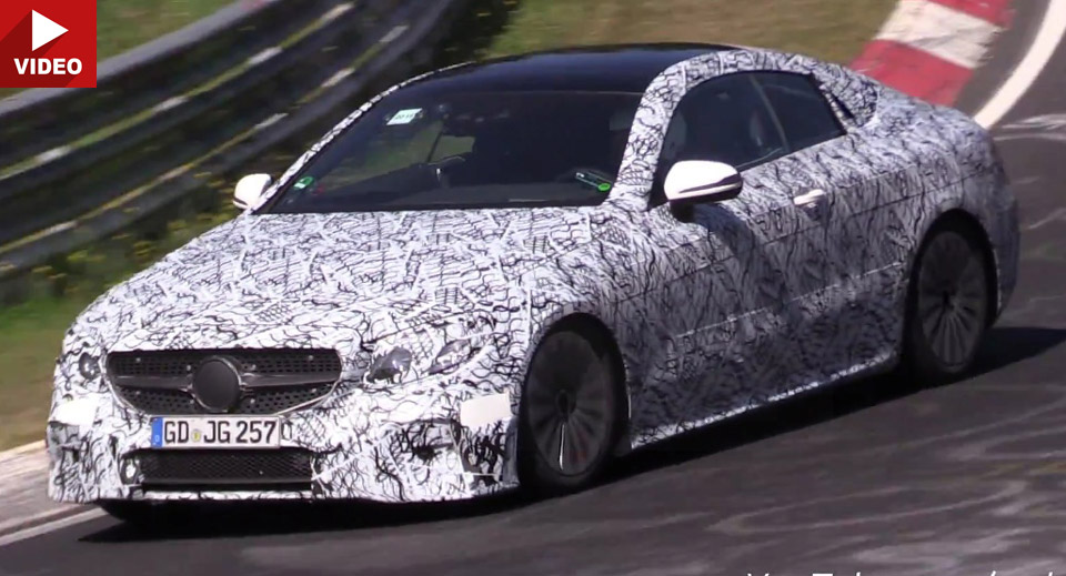 Mercedes E-Class Coupe 2018 face striptease
