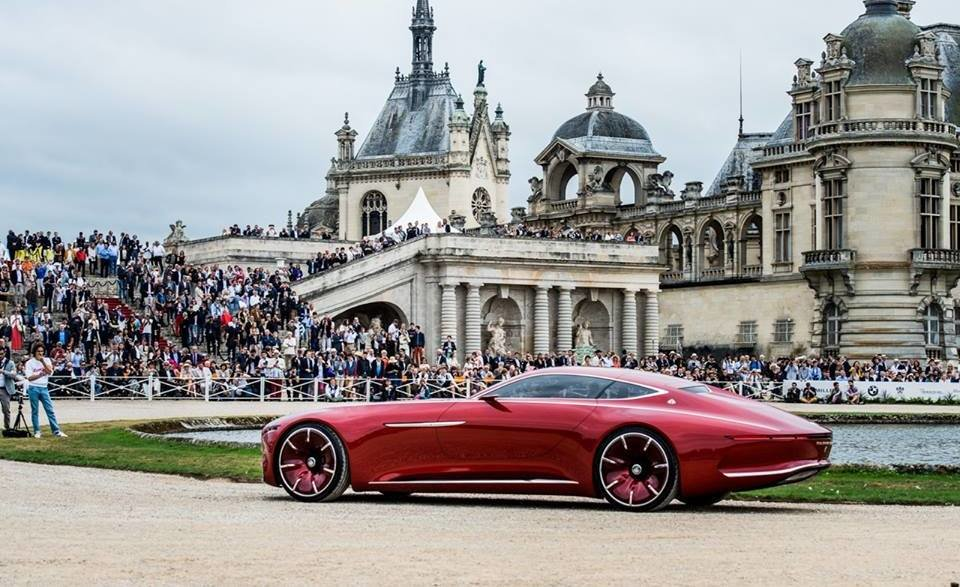 Vision Mercedes-Maybach 6, vedetă la Castelul Chantilly