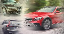 Mercedes E-Class All-Terrain vs Audi A6 Allroad, Volvo V90 CC – prima comparație statică