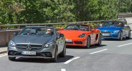 Triatlon: Mercedes-AMG SLC 43 vs BMW Z4, Porsche 718