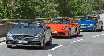 Triatlon: Mercedes-AMG SLC 43 vs BMW Z4, Porsche 718