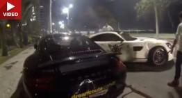 Ce nebunie! Șofer începător de Mercedes-AMG GT S lovește în plin un Porsche și un Ferrari