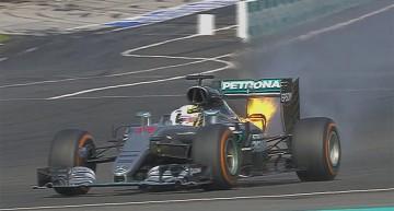 Dramă Mercedes în Malaezia – Motorul lui Hamilton ia foc, Rosberg termină pe 3