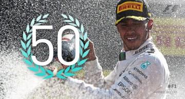 """""""Suntem spartani"""" – Hamilton obține victoria cu numărul 50 sub ochii actorului Gerard Butler"""