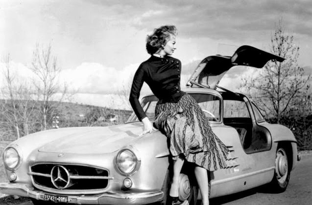 Divă la volan – Sophia Loren a condus un Mercedes-Benz 300 SL