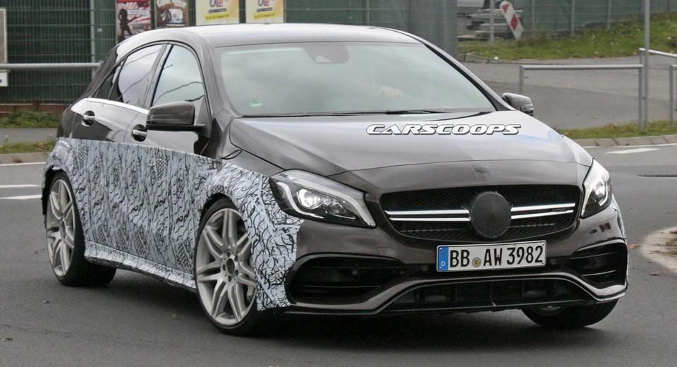 Cea mai tare compactă? Mercedes-AMG A 45 Black Series spionat