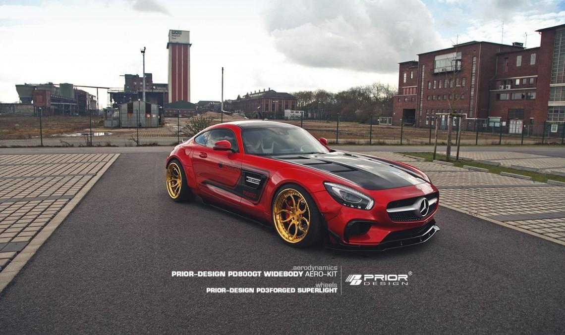 Roșu ca focul – Mercedes-AMG GT S de la Prior Design