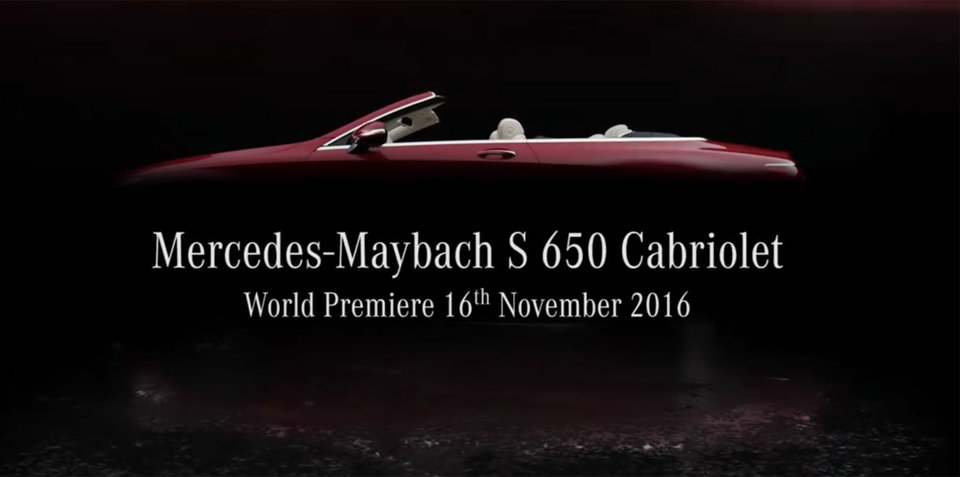 Mercedes-Maybach S650 Cabriolet 2017 va debuta la Los Angeles