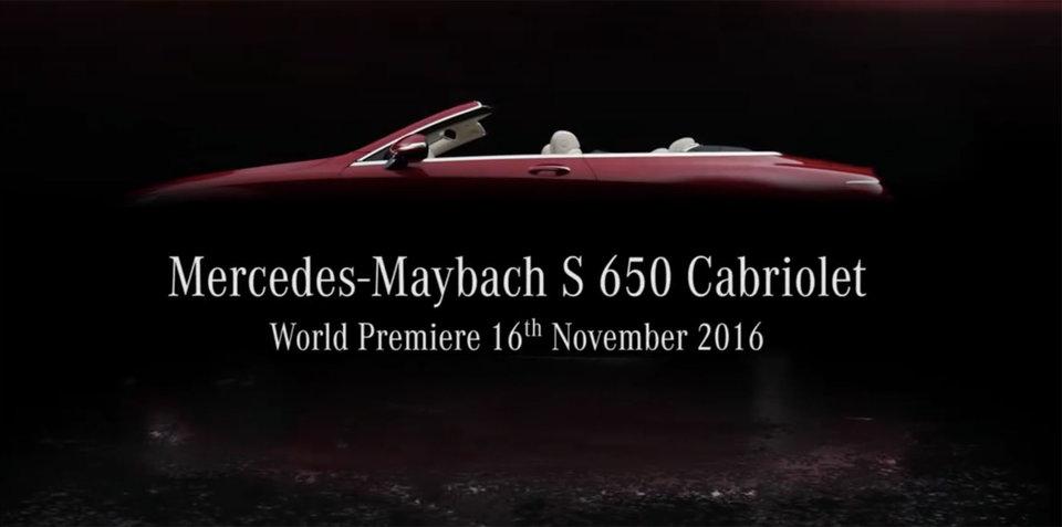 Mercedes-Maybach S650 Cabriolet 2017 va debuta la Los Angeles