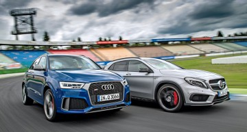 Cele mai hot crossovere: Mercedes-AMG GLA 45 vs Audi RS Q3