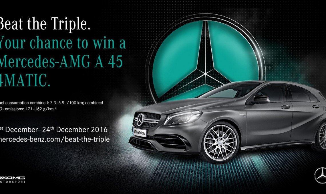 Beat the Triple – Cum să câștigi un Mercedes-AMG A 45 4MATIC?